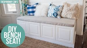 ikea bench hack ikea hack how to build a bench from kitchen cabinets youtube