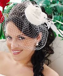 exquisite flower bridal hat u0026 birdcage veil blusher clip 8127