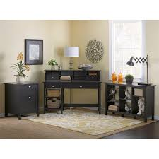 Bush Home Office Furniture Broadview Computer Desk With Open Storage Bookcase
