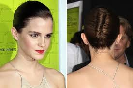 emma watson hairdos easy step by step emma watson celebrity inspired updos for short hair livingly