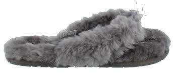 ugg fluff slippers sale s ugg fluffy sandal slippers womens shoes peltz shoes