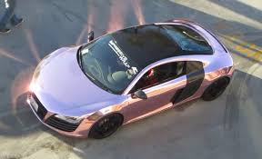 pink chrome ferrari chrome pink audi r8 youtube