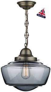 Antique Brass Ceiling Light David Hunt Stowe Retro Smoked Glass Pendant Light Antique Brass