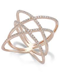diamond x ring diamond x ring in 14k gold 1 2 ct t w rings