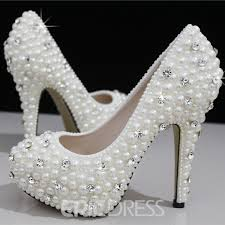 wedding shoes closed toe closed toe handwork pearl stiletto heel wedding shoes