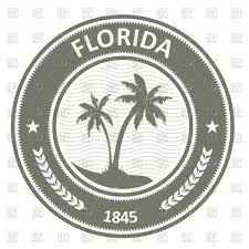 Floridas State Flag Wavy Florida State Flag And Outline Royalty Free Vector Clip Art