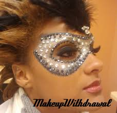 silver mardi gras mask makeup withdrawal jeweled black silver mardi gras mask make up