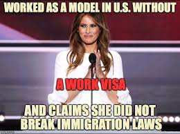 Model Meme - melania the illegal alien imgflip
