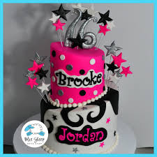 swirls and stars topsy turvy sweet 16 birthday cake blue sheep