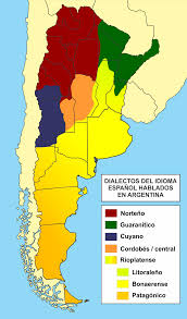 Dialect Map Usa Languages Of Argentina Wikipedia