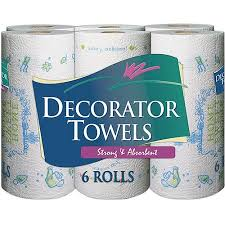 decorator towels regular roll printed paper towels 70 sheets 6