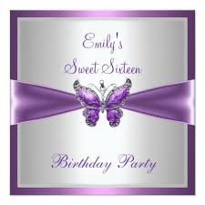 sweet sixteen 16 purple white butterfly birthday u2013 sweet 16
