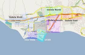 santa barbara california map santa barbara com restaurant guide map of goleta