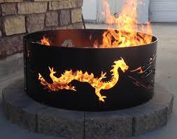 backyard fire ring etsy
