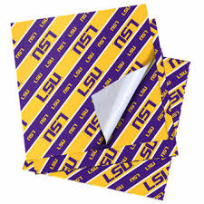 Tissue Paper Gift Wrap - lsu wrapping paper lsu tigers gift bags lsu tissue paper gift