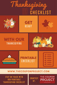 thanksgiving dinner deals thanksgiving planning checklist free printable