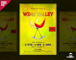 download wine valley flyer free psd template psddaddy com