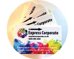 mint cards colour express corporate promotional