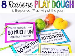 play dough a perfect first day gift for students adventures of