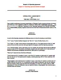 llc operating agreement template free download create edit