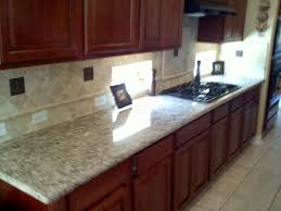 modern kitchen countertop with stylish design and brown cabinet