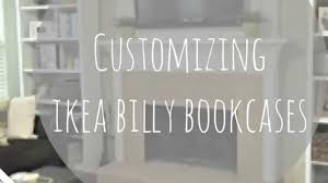 customizing and decorating my ikea billy bookcases youtube