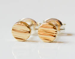 gold second studs gold and gold stud earrings modern by hookandmatter