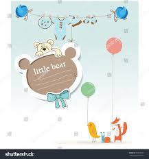 bday card baby shower greeting vector stock vector 533808235