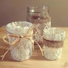 jar wedding decorations burlap jar lid burlap jar decor burlap and jar