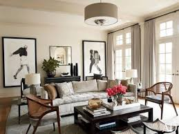 Chandelier Room Decor Spacious Brown Color Schemes For Living Rooms Have Brown Leather