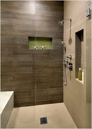 Bathroom Shower Wall Ideas Shower With Brown Tile And Light Floor Search New