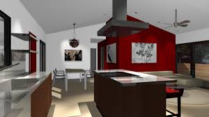 Red Accent Wall by 21 May 2009 This Modern Home