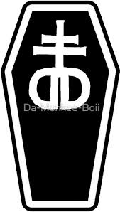 drop ded drop dead umbrella coffin stickers by da monkee boii redbubble