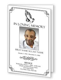 Templates For Funeral Program Funeral Program Templates Funeral Programs Praying Hands Program