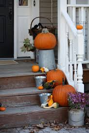 fall outdoor decoration for your front yard cement patio