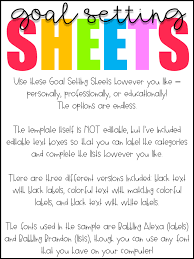 free download goal setting worksheets the inspired apple