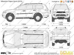 the blueprints com vector drawing mitsubishi pajero sport