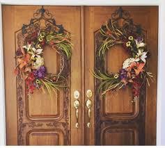 Fall Wreaths Double Door Fall Wreaths Front Door Decor Welcome Sign Door