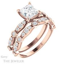 gold engagement ring settings princess cut engagement ring setting gtj904 square r gerry the