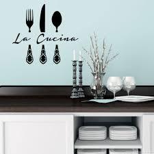 stickers pour la cuisine sticker déco la cucina couteau fourchette et cuillère kitchen wall