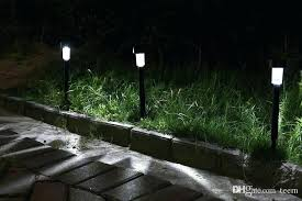 lawn lamps decorative steel bollard lights contemporary outdoor