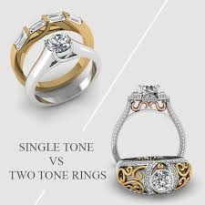 Engagement Ring Vs Wedding Ring by Customize Two Tone Engagement Rings Or Mens Wedding Bands Online
