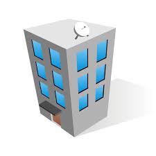office building 4 story 3d model max obj 3ds fbx cgtrader