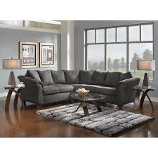 Living Room With Sectional Adrian 2 Piece Sectional Graphite Value City Furniture