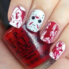 nails by jema jason voorhees u0026 blood splatter nails u0026 tutorials