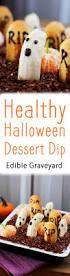 healthy halloween dessert dip edible graveyard vegan reduced