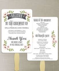 diy wedding fans templates printable wedding program template rustic wedding fan program