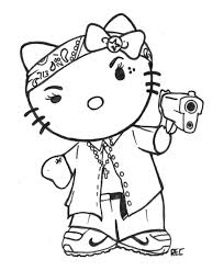 gangsta coloring pages h town tattoo hello kitty chola 713 rec by txrec on deviantart