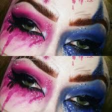 squad harley quinn eye makeup ig voodoobarbiedoll