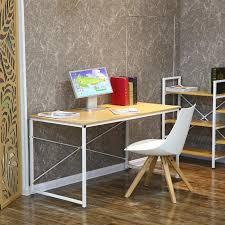 bureau bois et metal bureau en bois et métal blanc tanaro achat vente bureau